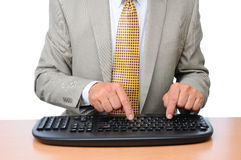 Closeup Businessman Typing Stock Photos