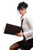 Closeup businesswoman royalty free stock photography