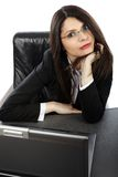 Closeup of businesswoman with laptop Royalty Free Stock Photography