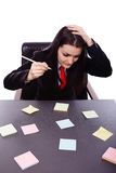Closeup of a busy businesswoman Royalty Free Stock Image