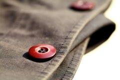 Closeup the Button. Close up the button on a shirt Stock Photos