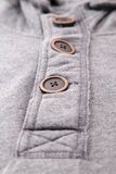 Closeup of the buttons on men hoodies. Royalty Free Stock Photography