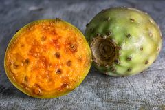 Closeup of cactus fruit. Called tuna in Ecuador stock photography