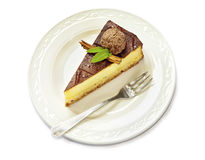 Closeup of cake on a plate Royalty Free Stock Photography
