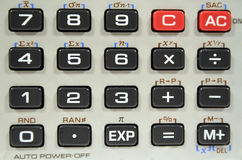 Closeup Calculator Keyboard Royalty Free Stock Images