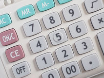 Closeup of Calculator KeyBoard Stock Image