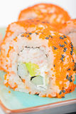 Closeup California maki sushi with masago Stock Photography