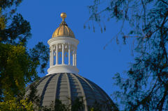 Closeup California State Capitol Dome Royalty Free Stock Images