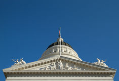 Closeup of California state capitol sculptures royalty free stock photo