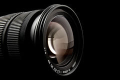 Closeup of camera lens Royalty Free Stock Images