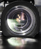 Camera lens. Closeup of a camera lens Stock Photo