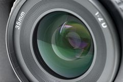 Closeup of camera lens Royalty Free Stock Image