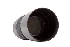 Closeup of camera lens, advanced photo equipment Royalty Free Stock Images
