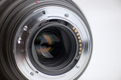 Closeup Of Camera Lens Contacts Royalty Free Stock Image