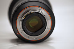 Closeup Of Camera Lens Contacts Stock Images
