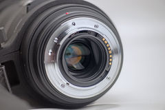 Closeup Of Camera Lens Contacts Royalty Free Stock Photo