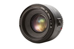 Closeup camera lens isolated on white background. Closeup lens isolated on white background stock illustration