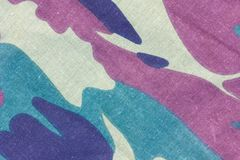 Closeup of camouflage fabric texture background Royalty Free Stock Photo