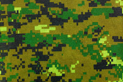 Closeup camouflage pattern for hiding, disguising. Digital camo Royalty Free Stock Image