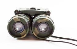 Closeup of Camouflage Style Binoculars Royalty Free Stock Photo