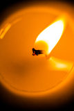 Closeup of a Candle Wick Burning Royalty Free Stock Photo