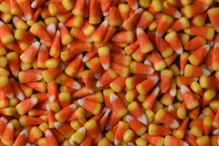 Closeup of candy corn Royalty Free Stock Photo