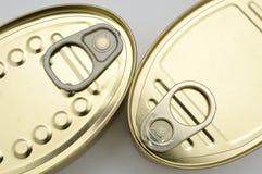 Closeup of cans Stock Photos