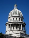 Closeup Capitolio's Cupola. Closeup view of the famous Cuban Capitolio's cupola in Havana (Cuba Royalty Free Stock Photos