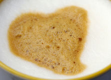Closeup cappuccino Royalty Free Stock Images