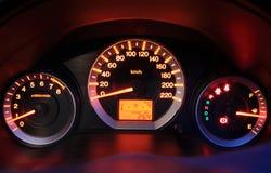 Closeup car dashboard. Modern car dashboard closeup photo Stock Images