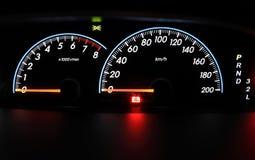 Closeup car dashboard. Modern car dashboard closeup photo Stock Photos