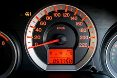 Closeup car dashboard Royalty Free Stock Photos