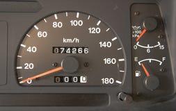 Closeup car dashboard Royalty Free Stock Photography