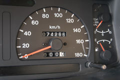 Closeup car dashboard Royalty Free Stock Image
