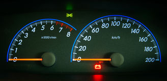 Closeup car dashboard Royalty Free Stock Image