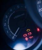 Closeup car dashboard Stock Images