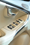 Luxury car door buttons details Stock Photos