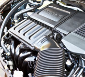 Closeup of car engine Stock Images