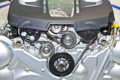 Closeup of car engine Stock Photography