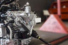Closeup car engine stock image