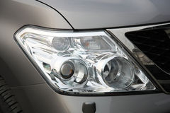 Closeup of car headlight Royalty Free Stock Image