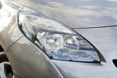 Closeup  of car's headlight Stock Photos