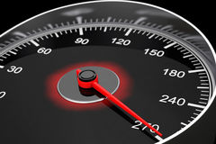 Closeup Car Speedometer. 3d Rendering Stock Photo