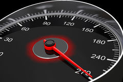 Closeup Car Speedometer. 3d Rendering Royalty Free Stock Image
