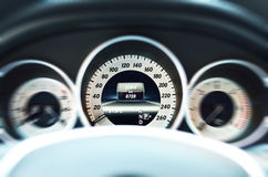 White car speedometer Stock Photo