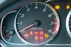 Closeup of car tachometer Stock Photo