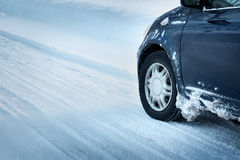 Closeup of car tires in winter Stock Photography