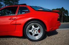 Closeup car wheel Porsche 944 Turbo with logo Stock Image