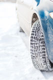 Closeup of car winter tire Stock Image