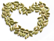Closeup cardamom in white background Royalty Free Stock Photos